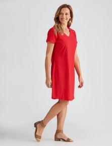 Millers Short Sleeve Knee Length Eyelet Detail Dress