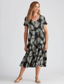 Millers Short Sleeve Tiered Maxi Dress