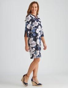 Millers Elbow Sleeve Midi ITY Dress