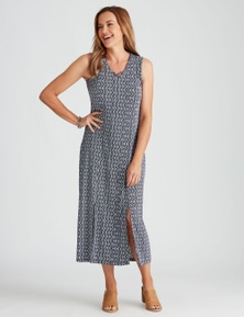 Millers Sleeveless Printed Knit Midi Dress