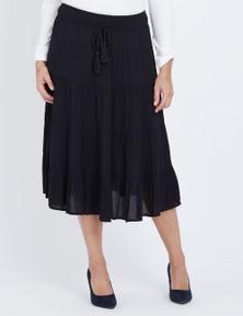 Millers Navy Gypsy Midi Skirt
