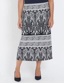 Millers Paisley Print Skirt