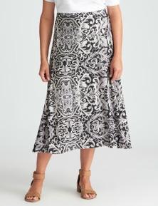 Millers A Line Raised Jaquard Print Skirt