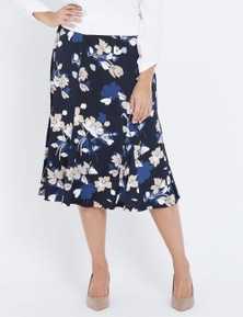 Millers A-Line Abstract Print Midi Skirt