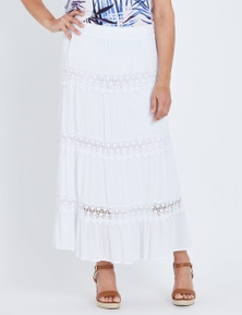 Millers Tiered Lace Insert Maxi Skirt