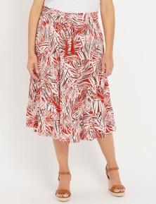 Millers Shirred Waist Tiered Gypsy Midi Skirt