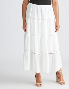 Millers Tiered Skirt with Insert Trim