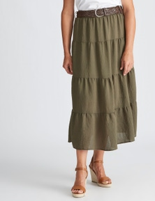 Millers Tiered Skirt with Belt
