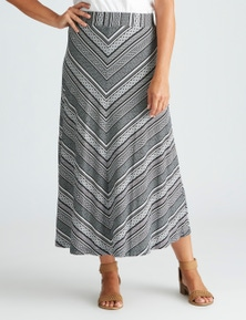 Millers Chevron Printed Maxi Skirt