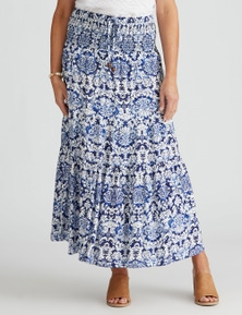 Millers Tiered Maxi Rayon Skirt