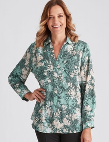 Millers Long Sleeve Mixed Print Collared Georgette Shirt