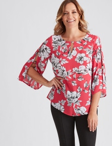 Millers Online Exclusive 3/4 Split Sleeve Blouse