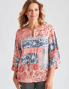 SPLIT SLV BLOUSE