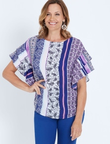 Millers Extended Ruffle Sleeve Bahama Blouse