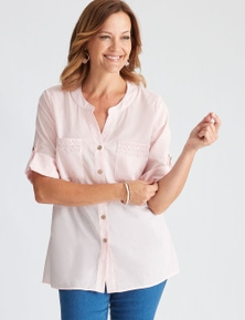 Millers Woven Collarless Cotton Blouse