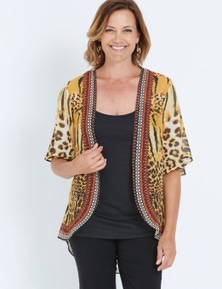 Millers Elbow Sleeve Wow Animal Print 2for Top Set