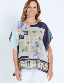 Millers Extended Sleeve Baroque Print Overlay Top