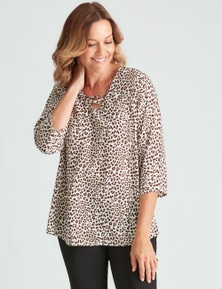 Millers Animal Lace Up Blouse