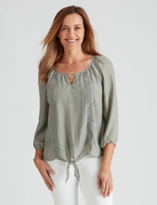 Millers Ring Detail Tie Front Blouse