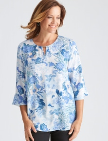 Millers Flared Sleeve Floral Blouse