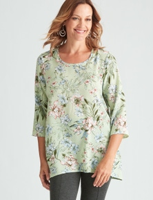 Millers Floral Blouse with Necklace