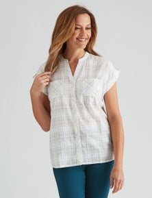 Millers Windowpane Check Blouse
