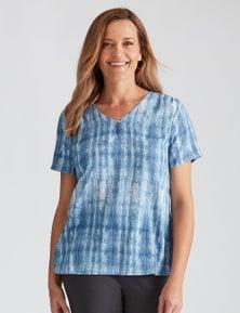 Millers Cap Sleeve Printed Georgette Blouse
