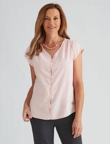 Milers Cap Sleeve Chambray Shirt