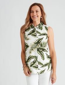 Millers Printed Sleeveless Rayon Blouse