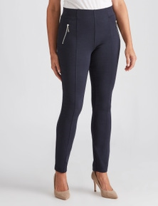 Millers Full Length Slim Leg Panelled Zip Ponte Pant