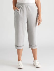 Millers Crop Pant with Lace Trim