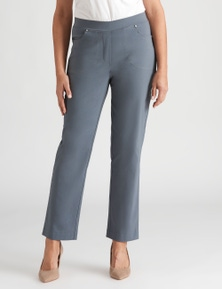 Millers Full Length Pull On Pant With Button Trim