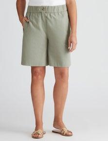 Millers pull on cotton slub knee length short