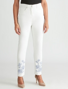 Millers floral embroidered jean