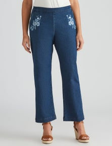Millers Full Length Embroidered lightweigh Jean