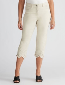 Millers Crop Jean with cut out hem detail