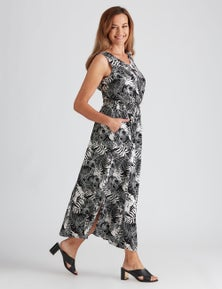 Millers Printed Rayon Maxi Dress