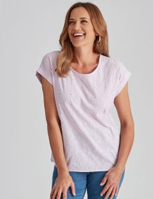 Millers T-Shirt with Embroidered Front Panel