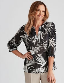 Millers Cotton Dobby Printed Blouse
