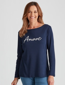 Millers Long Sleeve Amour Bling T-Shirt