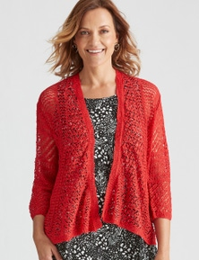 Millers 3/4 Sleeve Pointelle Stitch Cardigan