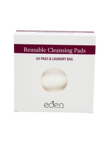 Eden Australia Make Up Remover Pads - Set of 6 with Laundry Bag