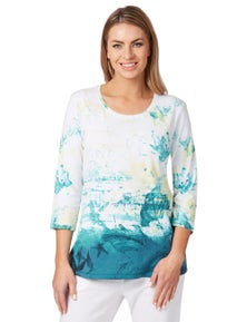 GIANNA TOP EMBROIDERED