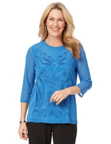 EDIE TOP EMBROIDERED