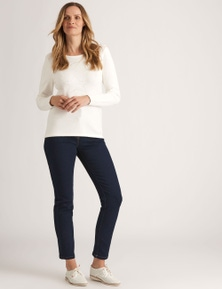 NONI B CASSIDY FLY FRONT JEAN REG