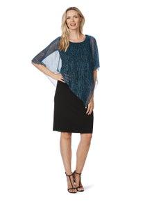 Liz Jordan KIARA DRESS CRINKLE OVERLAY