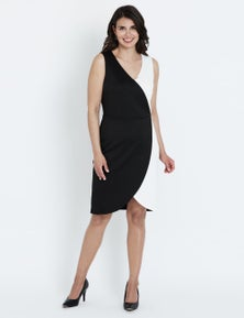 Liz Jordan S/LESS MONO WRAP DRESS