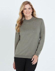 NONI B LONG SLEEVE MOCK NECK JUMPER