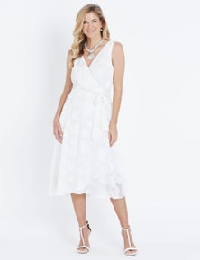 Liz Jordan S/LESS SPOT BURNOUT DRESS
