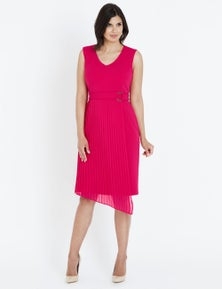 Liz Jordan S/LESS PLEATED SKIRT DRESS